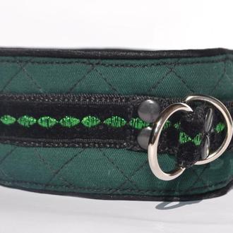 Dark Green Poodle's Collar. Mod. Mary Ошенийк для Пуделя