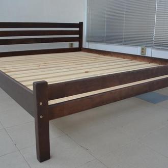 Деревянная кровать Престиж-Эко 120х200см цвет Темный Орех