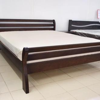 Кровать Деревянная двуспальная Аркадия 160х200см. массив Сосны цвет темный орех