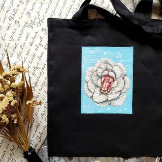 """Эко-сумка с  росписью """"Внутренний зверь"""""""