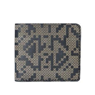 Шкіряне портмоне Franko Pixel black Medium wallet ручного пошиття