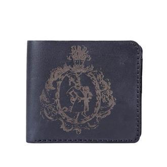 Шкіряне чорне портмоне Franko Kozak black Medium wallet