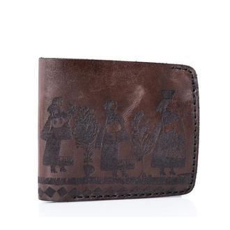 Коричневе портмоне Franko Girls brown Big wallet з натуральної шкіри
