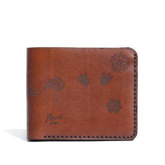 Коричневе шкіряне портмоне Franko Trypillya brown Small wallet
