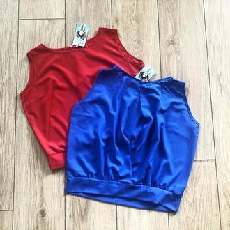 Легкая блуза без рукавов - супер-цена!