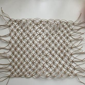 Килимок макраме из джута