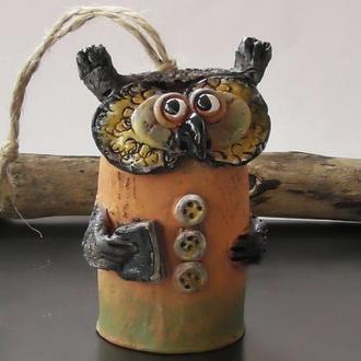"""Колокольчик """"Мудрая сова"""" колокольчик в виде совы"""