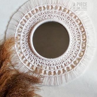 Зеркало декоративное макраме