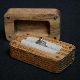 Деревянный футляр / коробочка / шкатулка для кольца