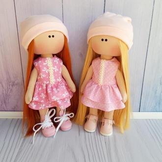 Комплект выкроек текстильной куклы с поворотной головой в формате PDF (28 см)