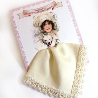 Подарочный женский носовой платок