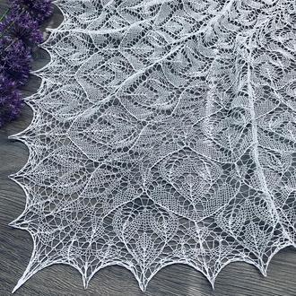 Ажурная белая хлопковая шаль