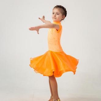 Рейтинговое платье (Бейсик) для бальных танцев Taste of Orange