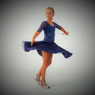 """Рейтинговое платье (Бейсик) для бальных танцев """"Black star"""""""