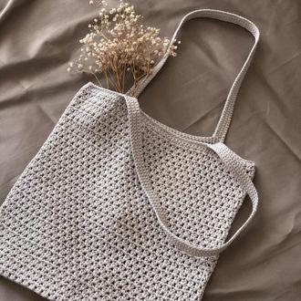 Шоппер | Вязаная сумка | Летняя сумка | Авоська