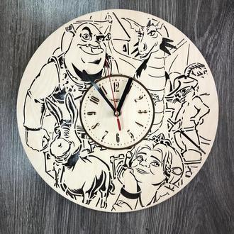 Бесшумные настенные часы в детскую «Шрек»