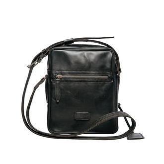 Сумка через плечо Franko black Messanger bag из натуральной кожи