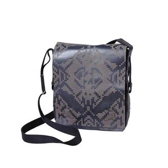 Сумка через плечо Franko Pixel black Messenger bag из натуральной кожи