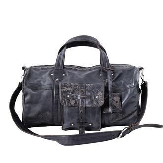 Шкіряна спортивна сумка Franko Kozak flowers black Road bag на блискавці
