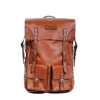 Средний кожаный рюкзак Franko brown Medium Backpack