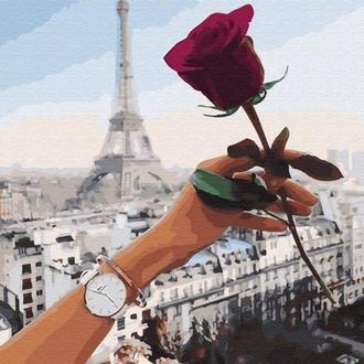 Картина по номерам 40x50 Роза Парижа (GX28057) Код: 0096-1651