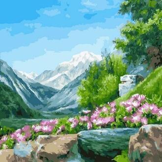 Картина за номерами 40х50 Гірські квіти (GX23569) Код: 0096-471