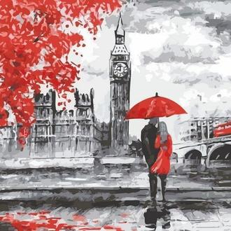 Картина за номерами Прогулянка по Лондону, 40x50 (AS0145) Код: 0097-94