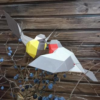 Набор полигональных птиц