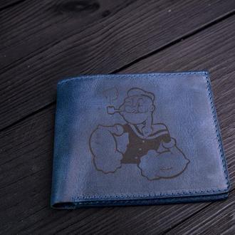 Міні-гаманець з гравіюванням / Cartoon / Синій