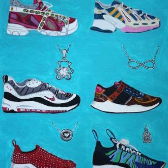 """Картина """"Мої улюблені кросівки"""""""