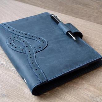 Блокнот кожаный А5 / органайзер кожаный / обложка на ежедневник кожаная