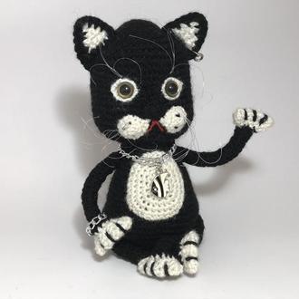 Игрушка ′Кот′ ′Кошка′ вязанный