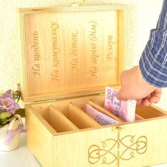 Шкатулки из дерева ручной работы, деревянные шкатулки для денег на 5 отделений