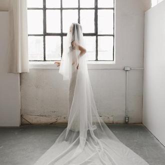Свадебная фата длинная