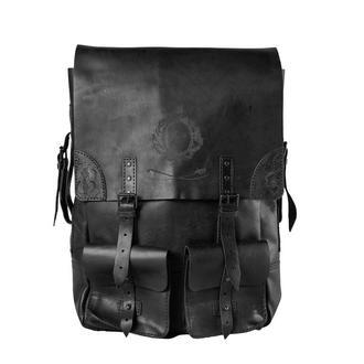 Великий шкіряний рюкзак Franko Kozak black Big Backpack