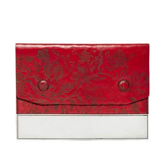 Чохол для ноутбука Franko Kozak Flowers horizontal red white flap Case