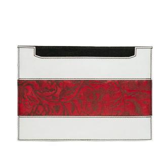 Кожаный чехол для ноутбука Franko Kozak flowers horizontal Case red