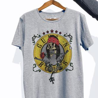 """Мужская футболка с авторским принтом """"Guns and roses"""""""
