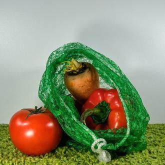 Мешочек гипюровый зелёный