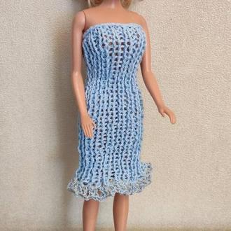 В'язане силуетне плаття-труба