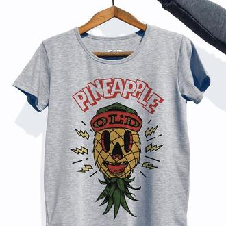 """Женская футболка с авторским принтом """"Old Pineapple"""""""