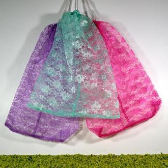 Набор гирюровых мешочков в пастельных тонах