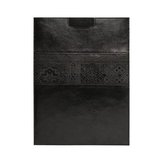 Шкіряний чохол для ноутбука Franko UA pattern vertical black Case