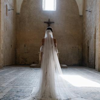 Свадебная фата, венчальная