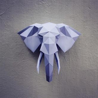 Паперкрафт (Papercraft) Слон - готовая/склеенная