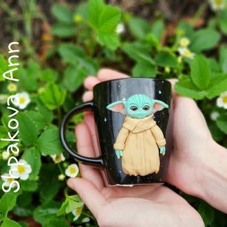 Игрушка кружка подарок маленький малыш Йода подарочная чашка с декором