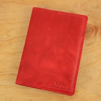 Обложка для ежедневника формата А5|10552| Красный
