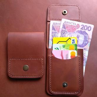 Шкіряний гаманець чоловічий Кожаный мужской кошелек
