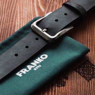 Черный ремень Franko Big black belt из ременной кожи быка