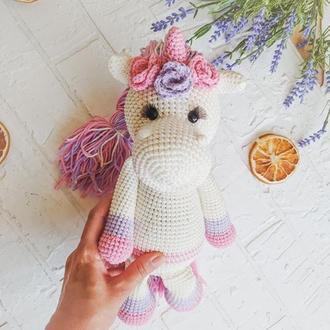 Игрушка вязанный Unicorn